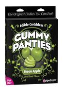 Edible Crotchless Gummy Panties Apple Green